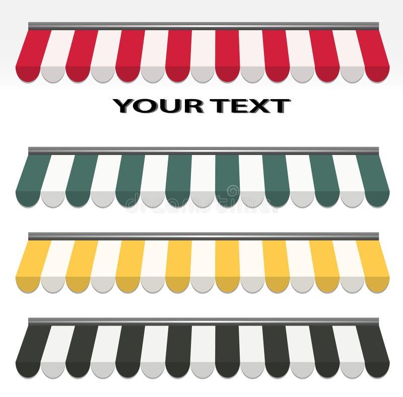 Quattro tende differenti di colore illustrazione di stock