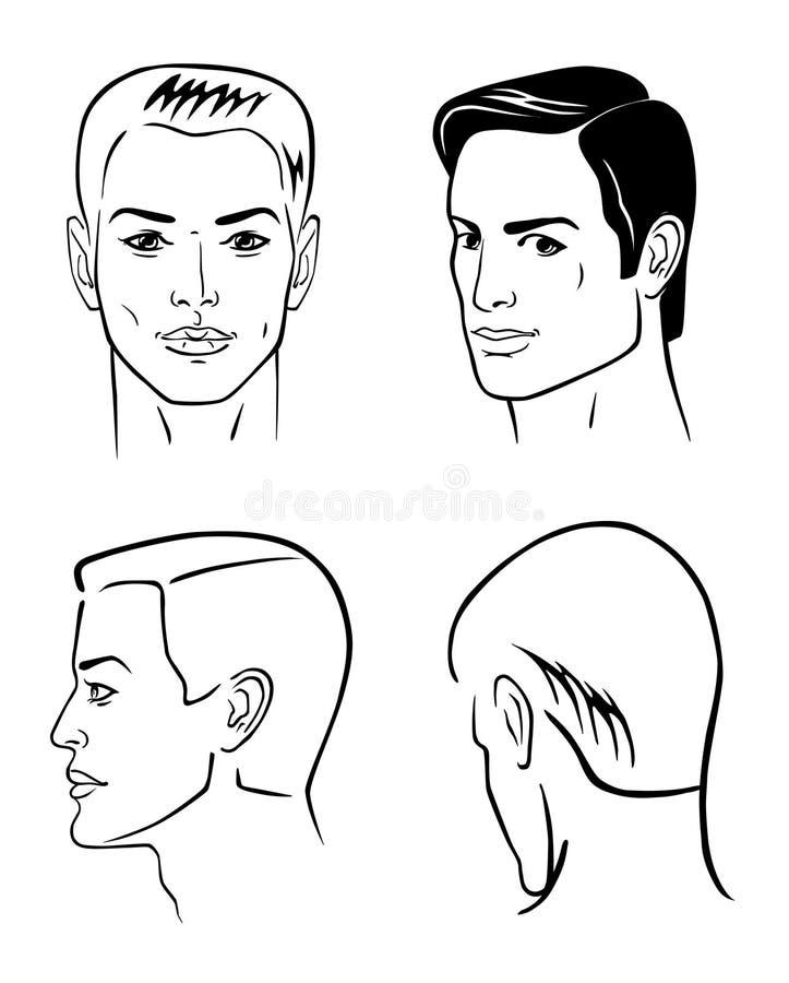 Quattro teste dell'uomo royalty illustrazione gratis