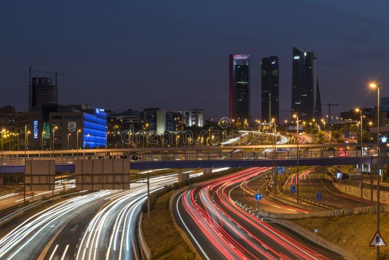 Quattro torri di Madrid fotografia stock libera da diritti
