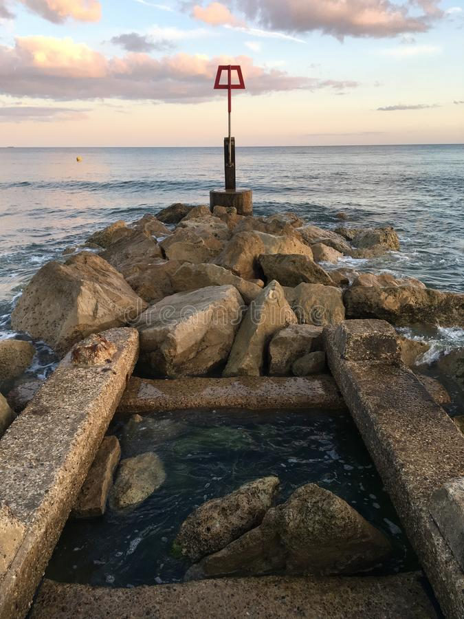 Quay à Bournemouth photos libres de droits