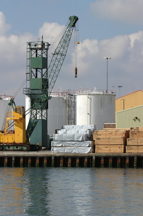 Download At the Quay stock image. Image of industry, loaded, container - 108515