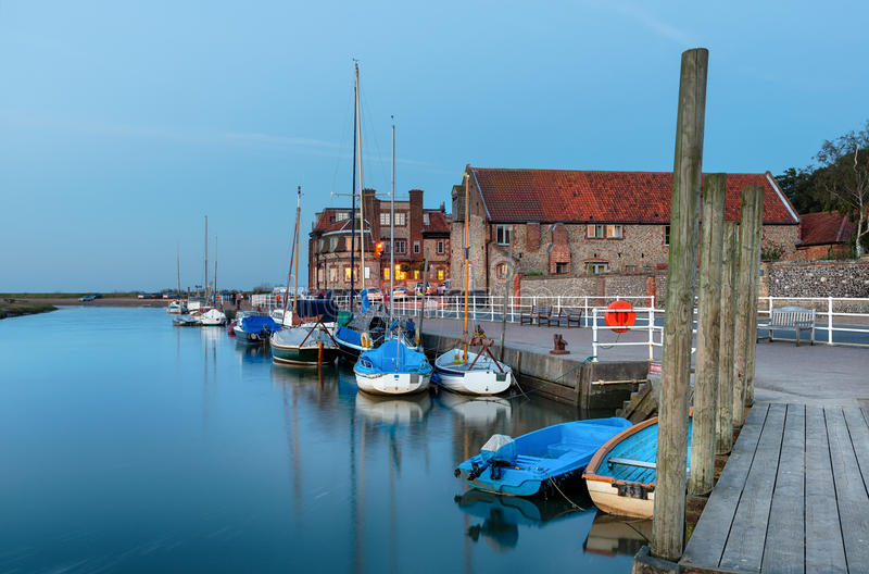 The Quay at Blakeney in Norfolk royalty free stock image