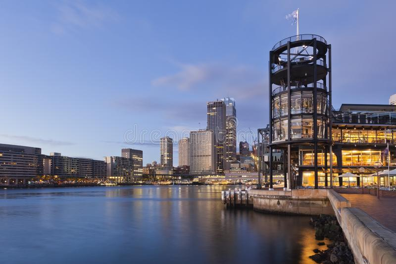 Quay circulaire et terminal pour passagers d'outre-mer, Sydney photo stock