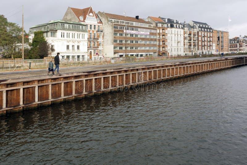 Quay del Kystvejen en rhus de Ã… fotos de archivo