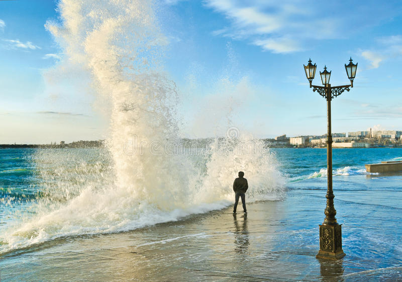 Quay der Sewastopol-Bucht krim lizenzfreies stockfoto