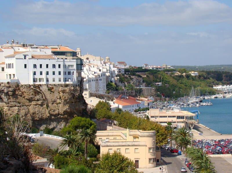 Quay and harbor in Mahon, Menorca