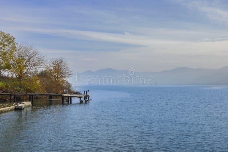 Quay jezioro obraz stock