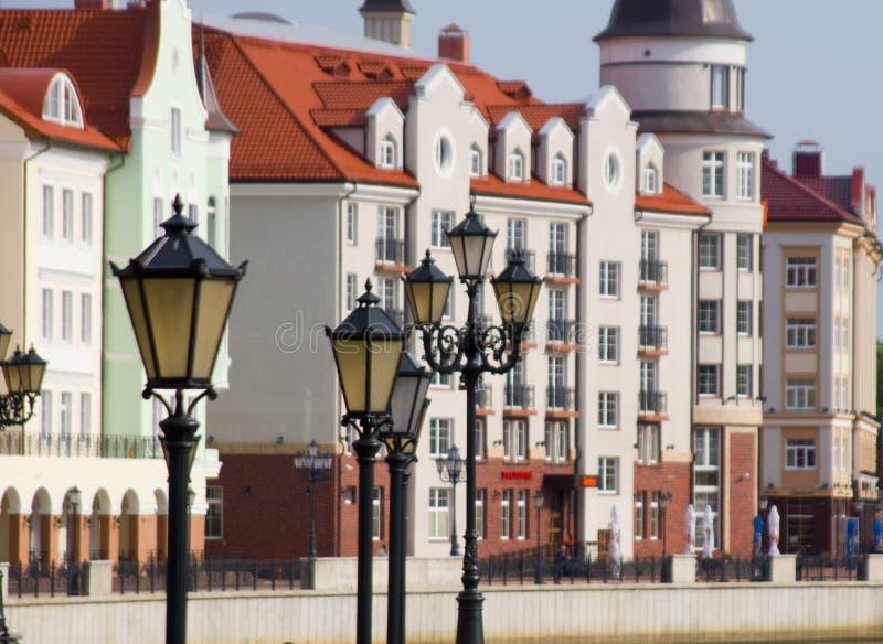 Quay in Kaliningrad lizenzfreie stockfotografie