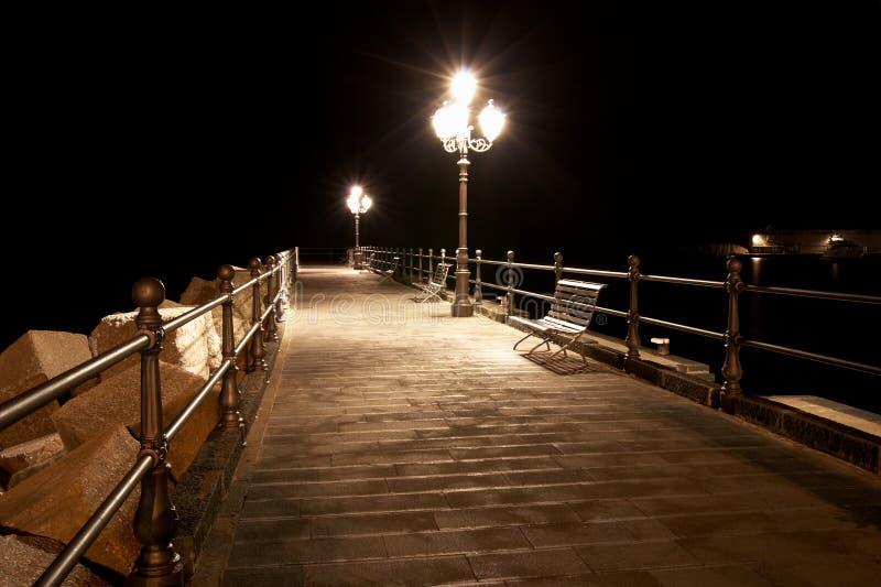 Quay la nuit photo libre de droits