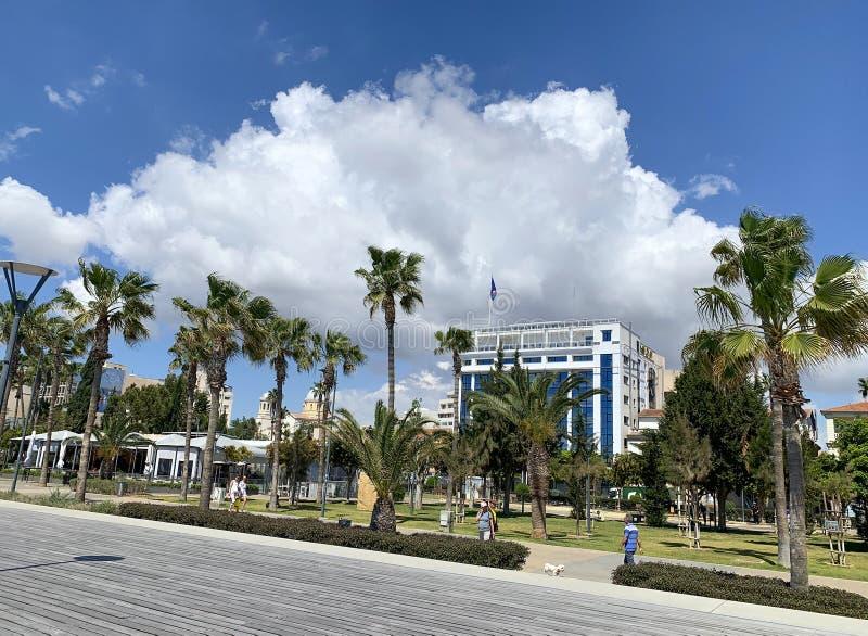 Quay nella città di Limassol fotografia stock libera da diritti