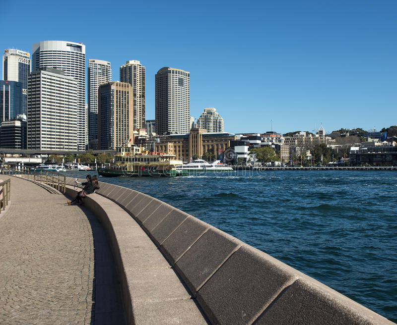 The Quay from the Opera House stock image