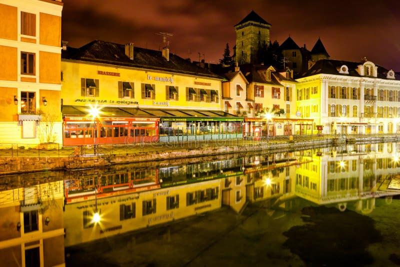 Quay Perriere, Annecy, France fotos de stock