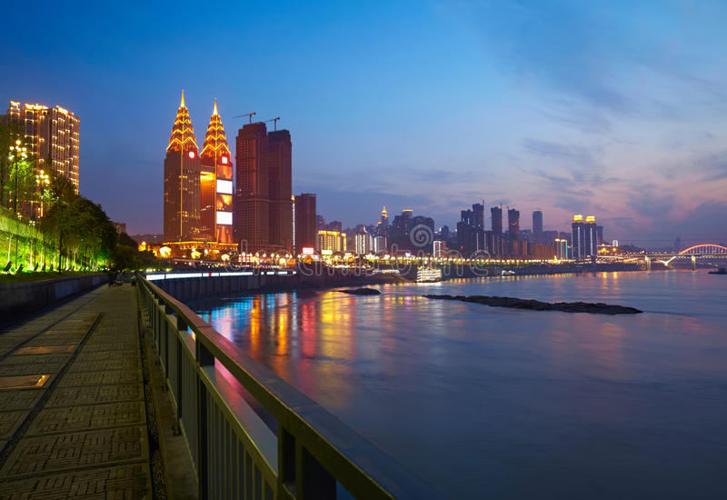 Quay przy Chongqing, Chiny fotografia stock