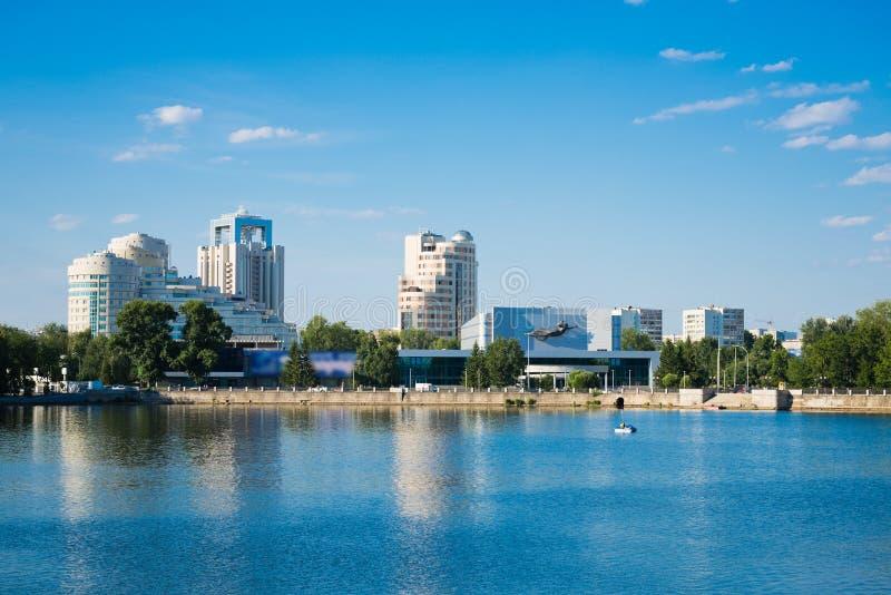 Download Quay Wharf Embankment Yekaterinburg City. Royalty Free Stock Photo - Image: 29021955