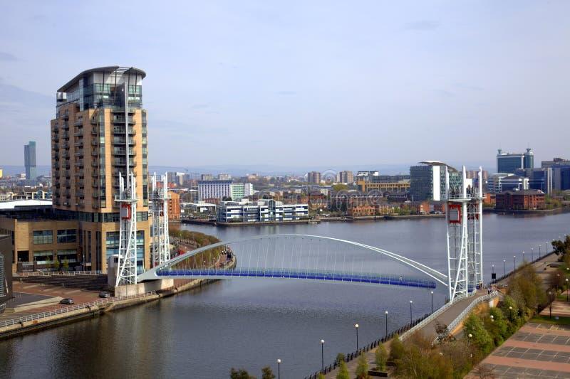 Quays de Salford em Manchester imagens de stock