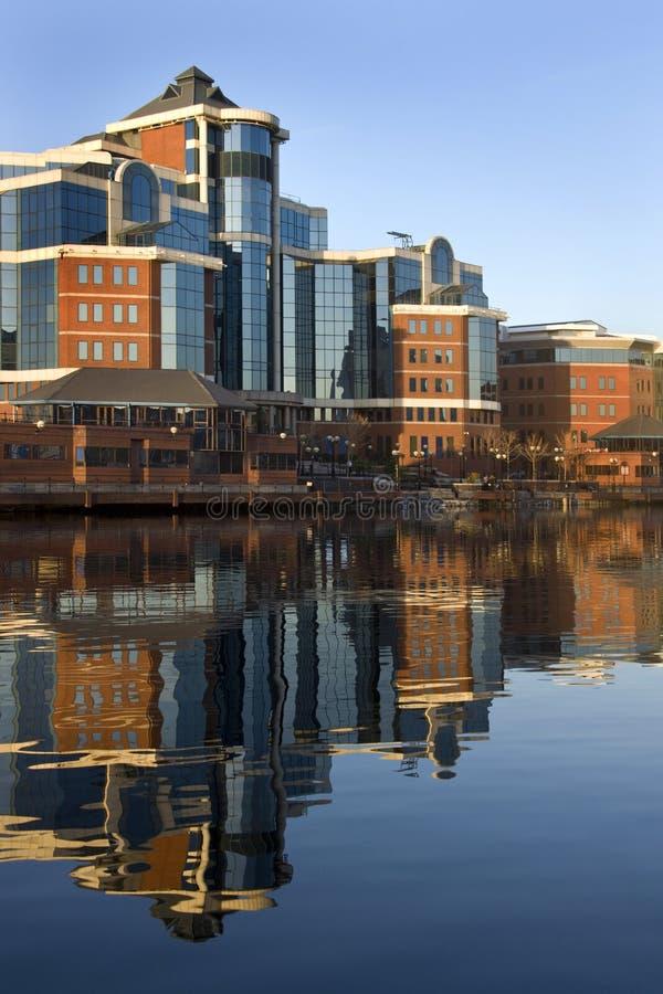 Quays de Salford - Manchester - Reino Unido imagens de stock