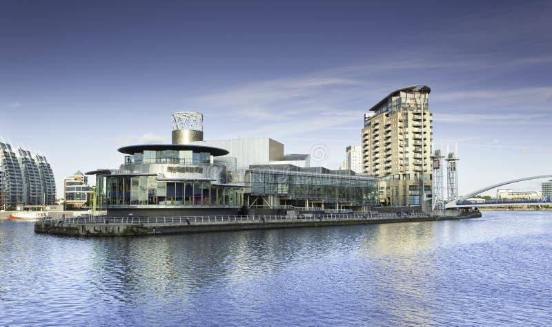 Quays Manchester Salford стоковое фото rf