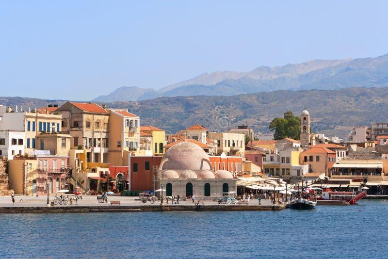 quayside Крита Греции chania стоковое изображение