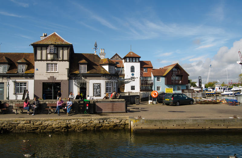 Quayside, Lymington royalty-vrije stock fotografie