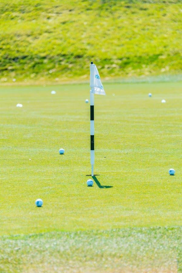 Quba - 26 mars 2015 : Terrain de golf chez Quba Rixos photo libre de droits