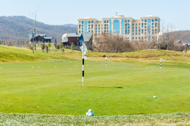 Quba - 26 mars 2015 : Terrain de golf chez Quba Rixos photo stock