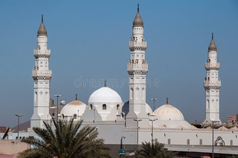 Quba moské i Al Madinah, Saudiarabien fotografering för bildbyråer