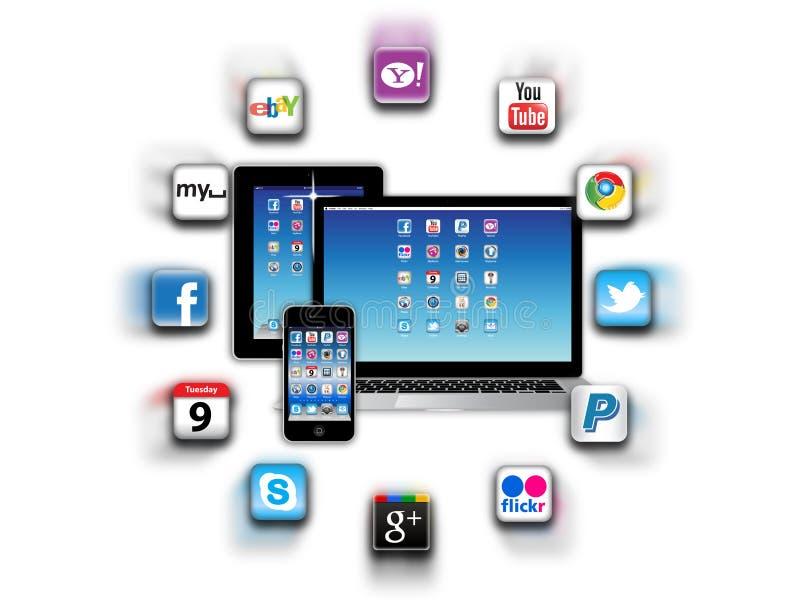 Que é apps está em sua rede móvel hoje? ilustração royalty free