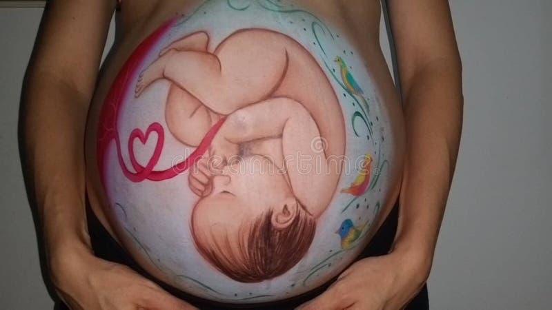 Que de Fotos nenhuns efectos necesitan ³ n do monitorizacià da informação dos #nofilters fetal: fotos de stock royalty free