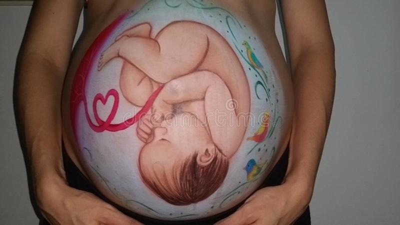Que de Fotos ningunos efectos necesitan ³ n del monitorizacià de la información de los #nofilters fetal: fotos de archivo libres de regalías