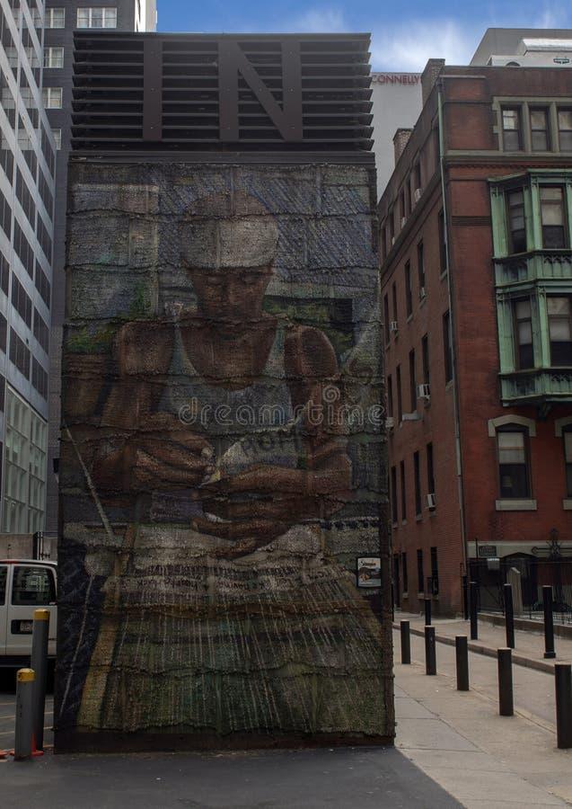 ` Que encontra o ` home por Josh Sarantitis e por Kathryn Pannepacker, Philadelphfia, Pennsylvani imagens de stock