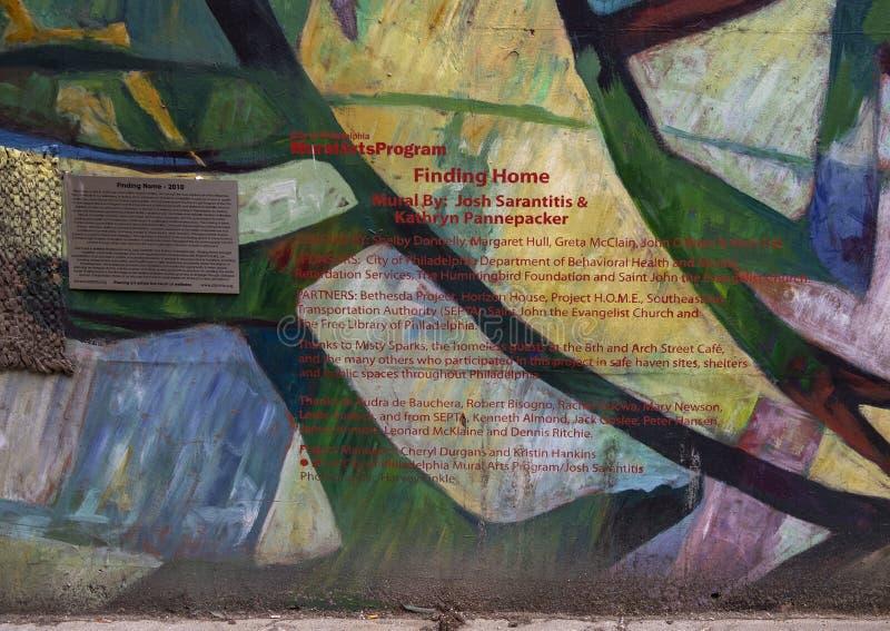` Que encontra o ` home por Josh Sarantitis e por Kathryn Pannepacker, Philadelphfia, Pennsylvani imagem de stock