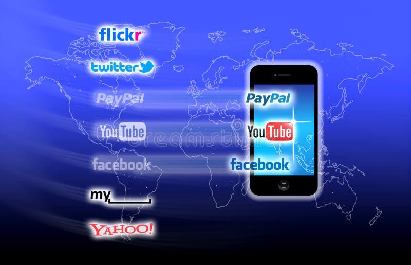 Que está em sua rede móvel hoje? ilustração royalty free