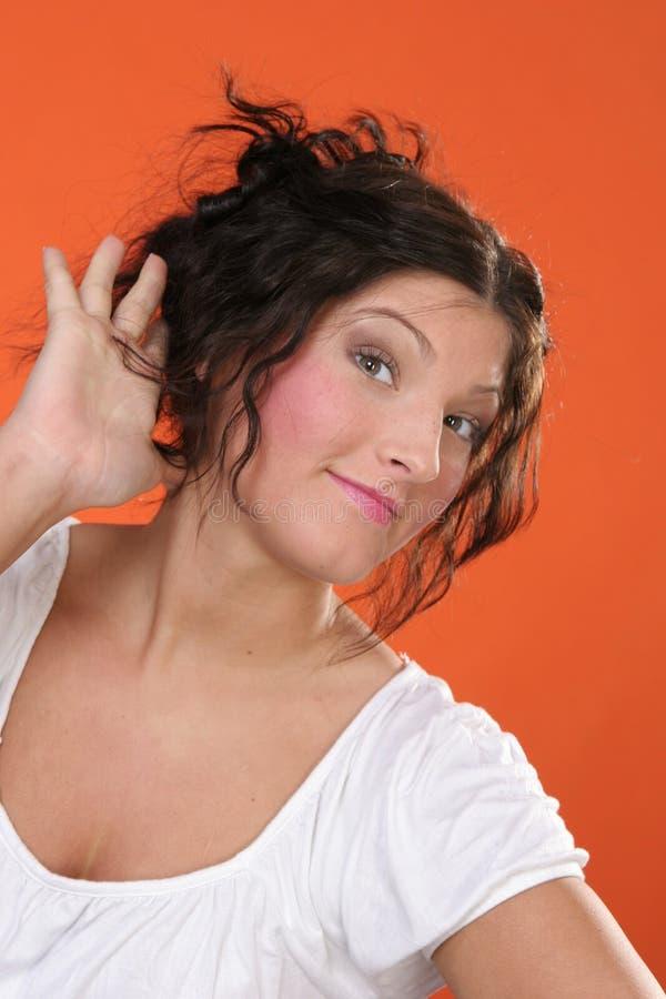 Download Que você disse? imagem de stock. Imagem de menina, cabelo - 530215