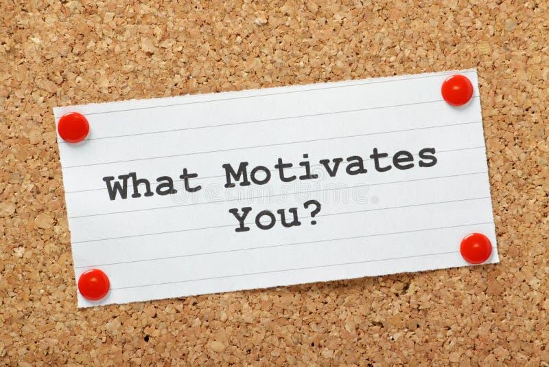 Que vous motive ? photos stock