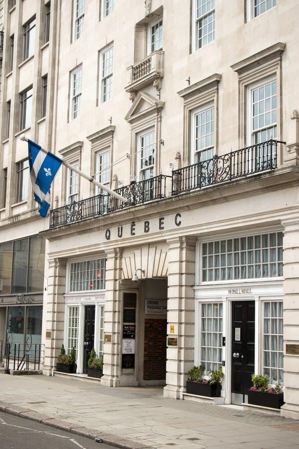 Quebec's办公室的政府在伦敦,英国 免版税库存照片