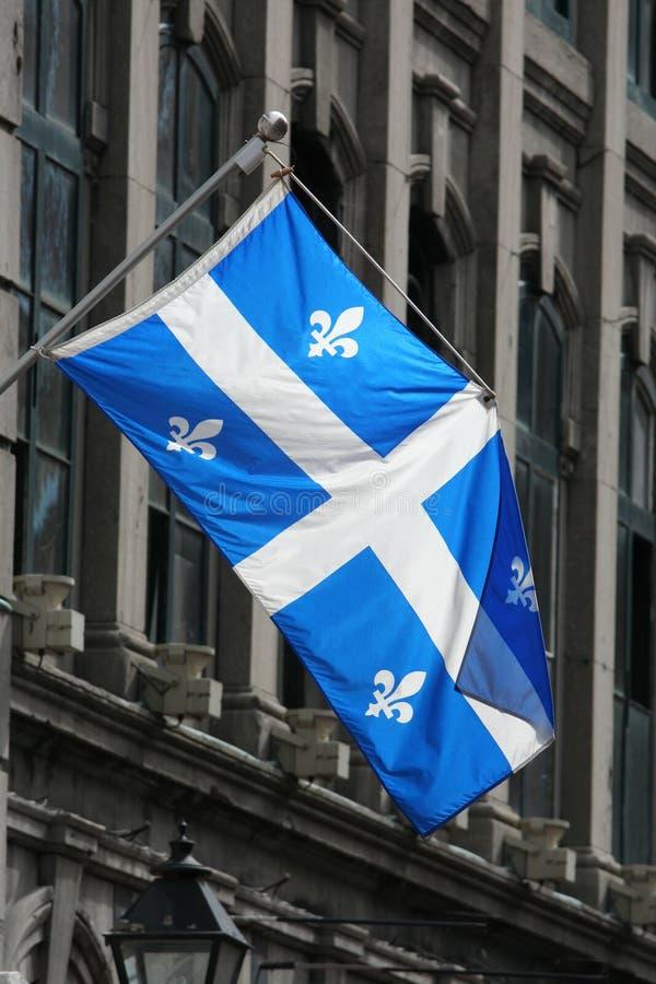 Quebec bandery fotografia stock