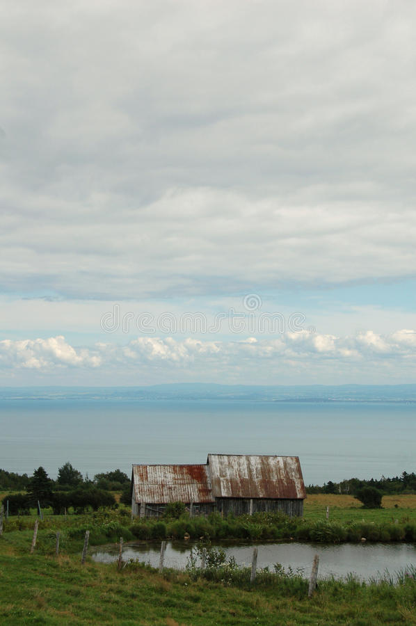 Download Quebec Barn stock image. Image of post, clouds, coast - 12751475