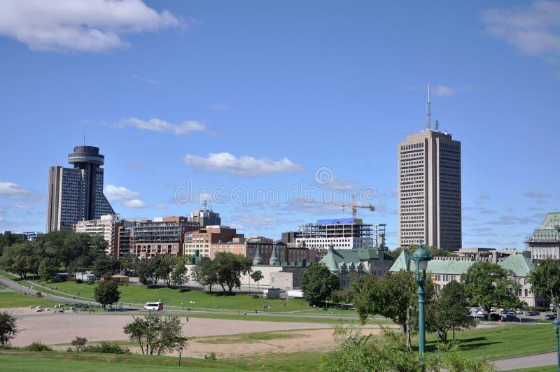 Quebec modern stadshorisont, Kanada arkivbild