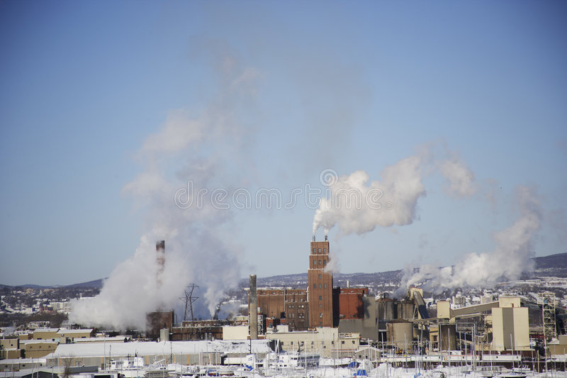 Quebec, canada. Landscape of the industry in Quebec, Canada stock photography