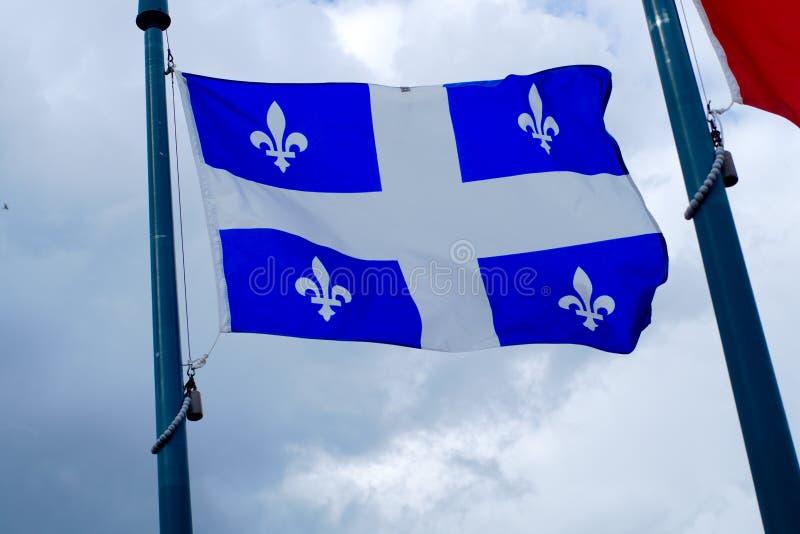 Quebec Canada flagi kraju francuska kanadyjska kultura Montreal zdjęcie royalty free