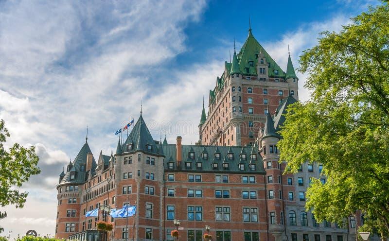Quebec, Canada. Majesty of Hotel de Frontenac.  stock photo