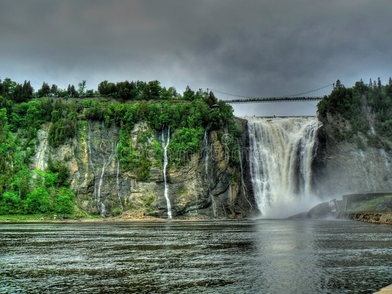 Quebec, Canada - Montmorrency Falls. Montmorrency Falls in Quebec, Canada royalty free stock photo