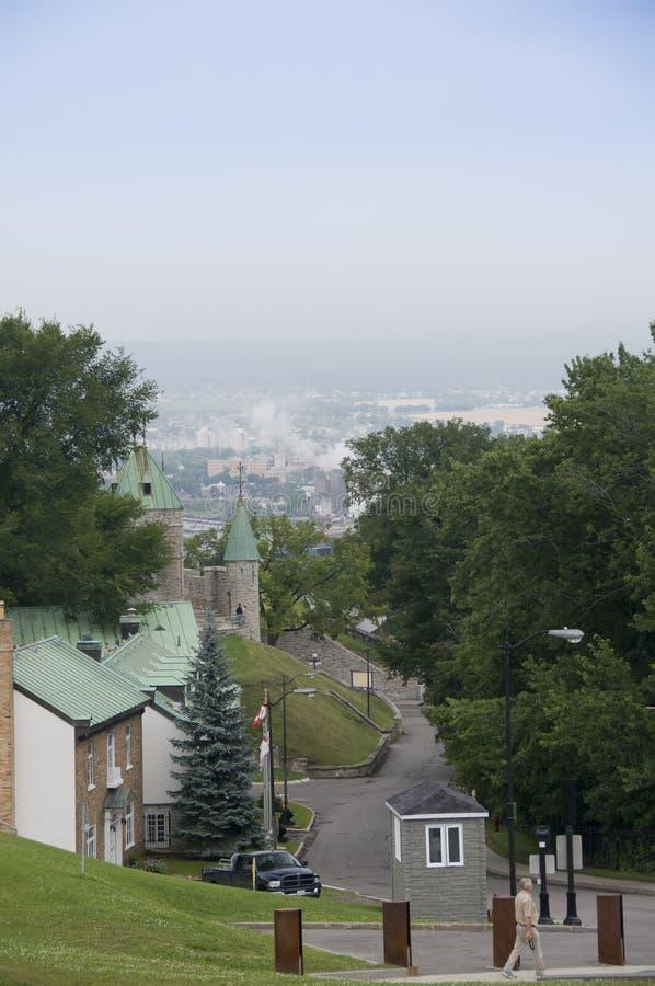 Quebec citadel royalty free stock photo