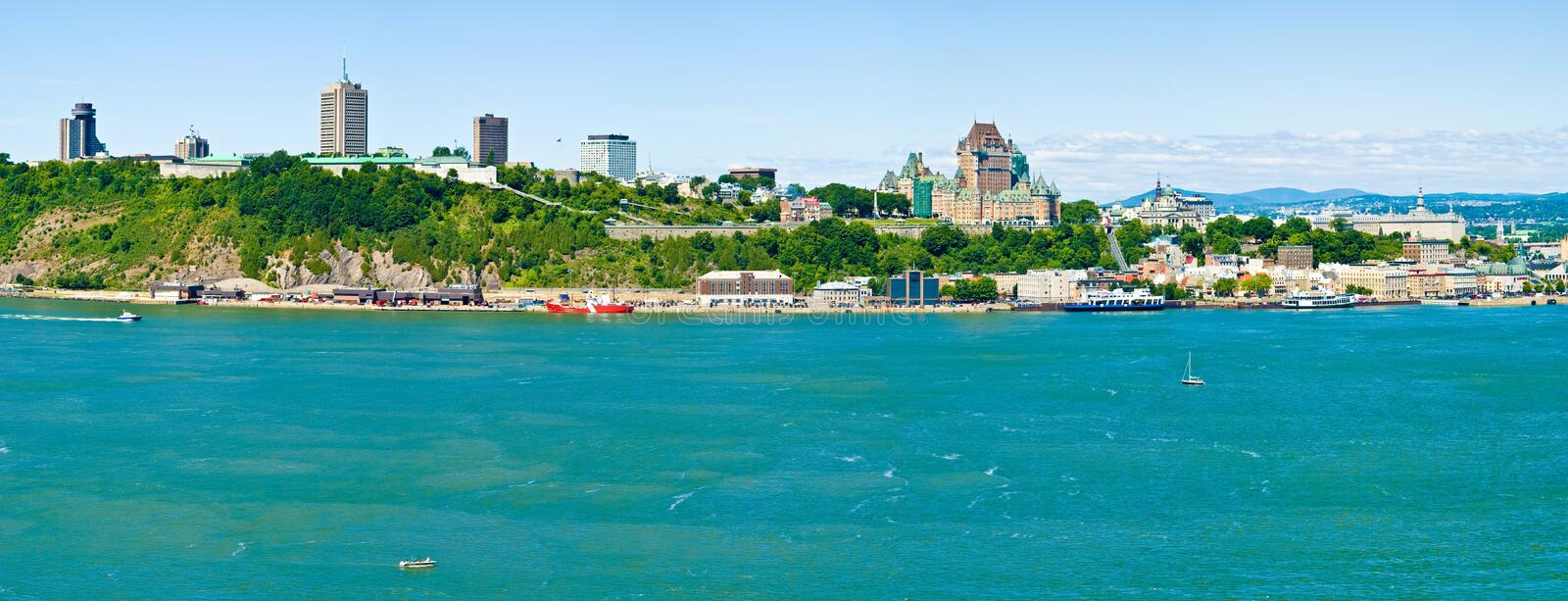 Quebec City. Old Quebec and Chateau Frontenac stock images