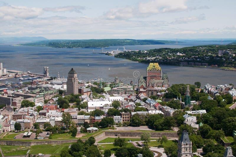 Quebec City Aerial View stock photo