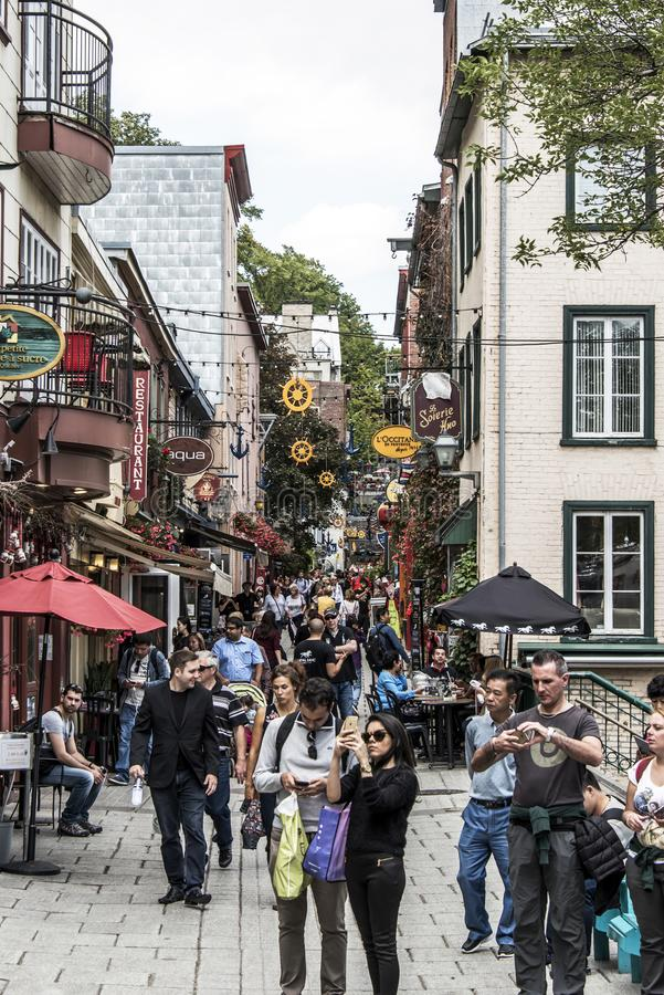Free Quebec City Canada 13.09.2017 People In Lower Town Old Quebec, One Of The Tourist Attractions Is A UNESCO Heritage Site Royalty Free Stock Photography - 101329847