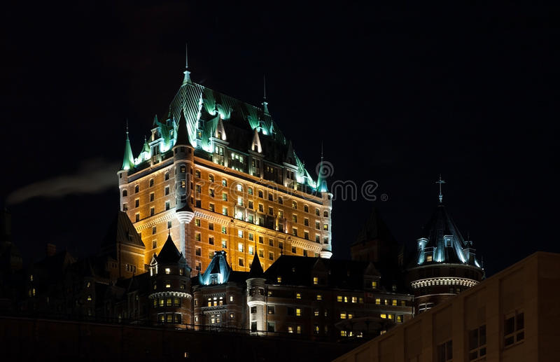 Quebec City, Canada. Chateau Frontenac at the night, Quebec City, Canada royalty free stock photo