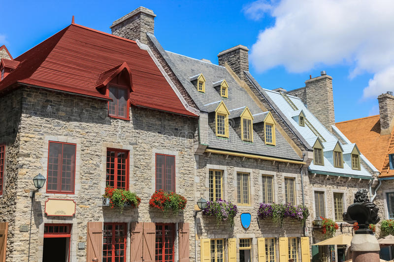 Quebec city, Canada. Architecture of downtown Quebec city, Canada royalty free stock photos
