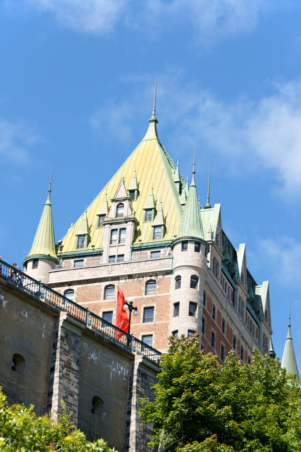 Chateau Frontenac hotel in Quebec City, Canada stock images