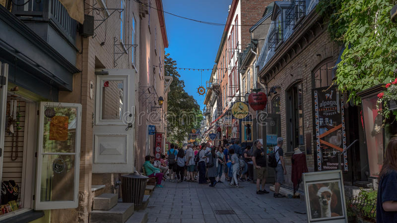 Quebec City, Canada, Street photography royalty free stock image